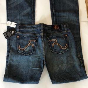 NWT Rock & Republic jeans size 29 kasandra boot cu